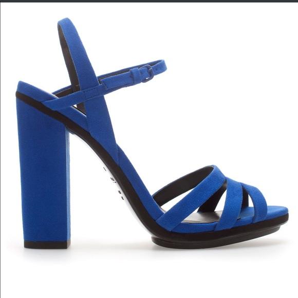 ZARA Cobalt Blue Sandals